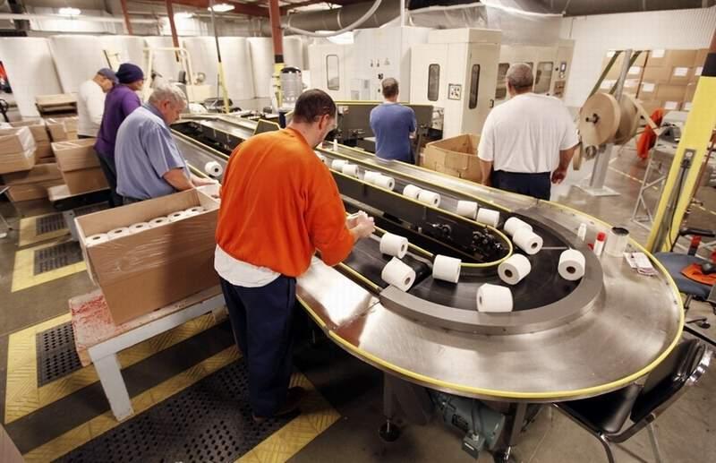 Производство по изготовлению туалетной бумаги