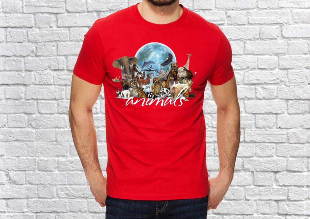 Варианты печати на футболках