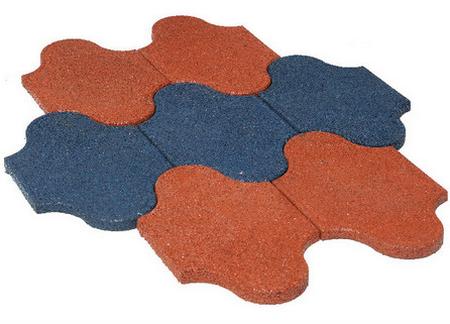Производство тротуарной резиновой плитки
