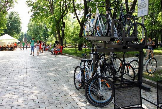 Пункт проката велосипедов в парке