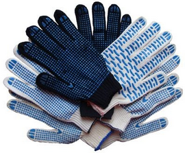 Х/Б перчатки рабочие с ПВХ