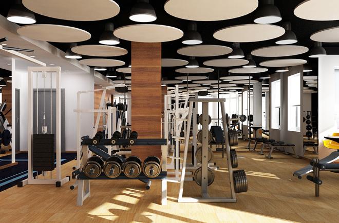 дизайн спортивного зала
