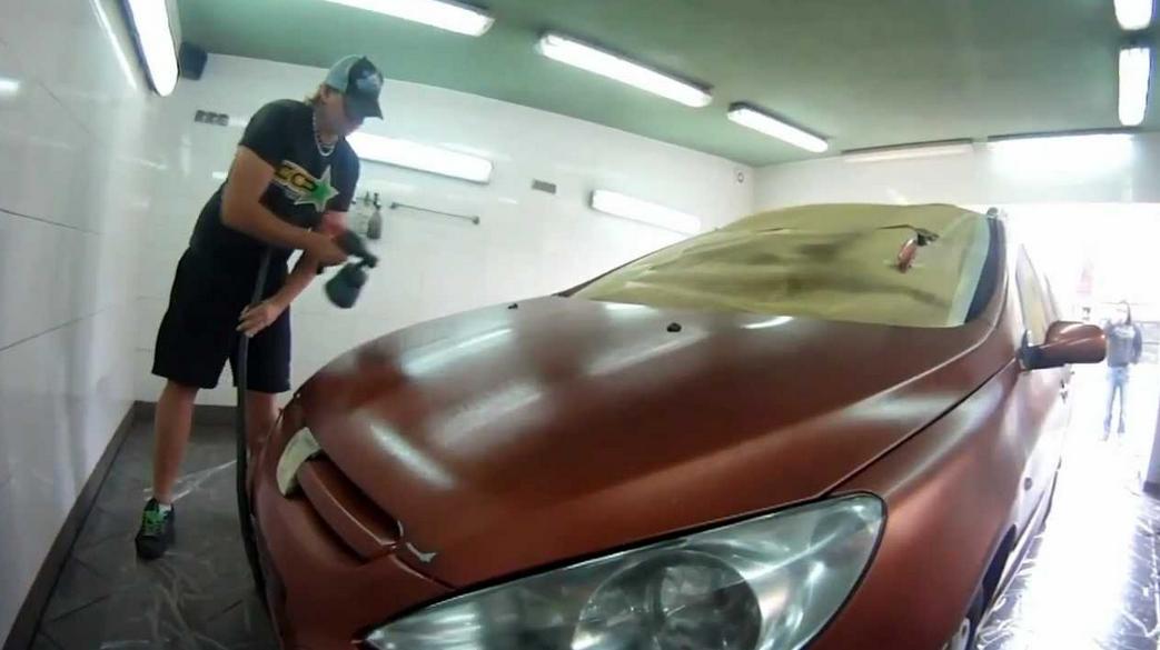 как покрасить авто жидкой резиной