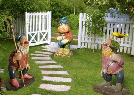Гипсовые фигурки для сада