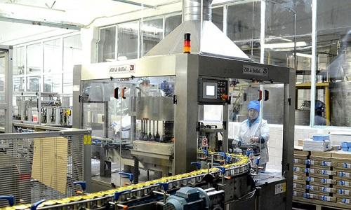 Конвейер на производстве сгущенного молока