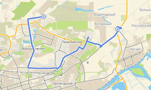 Проработка маршрута для такси