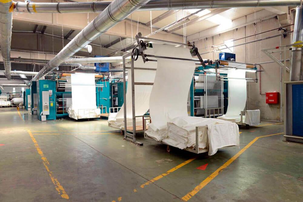 Помещение для производства тканей