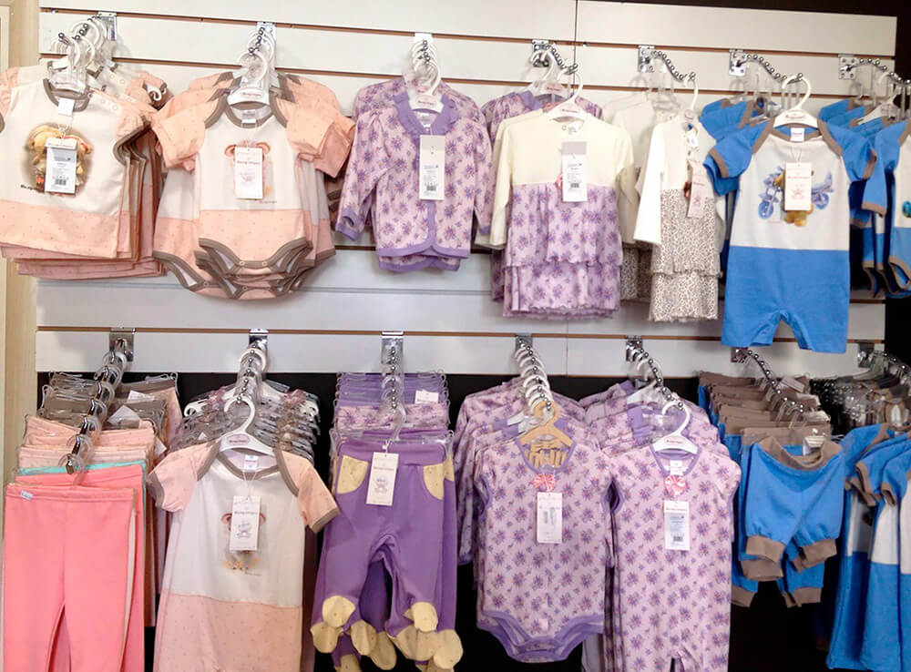 Ассортимент одежды для детей