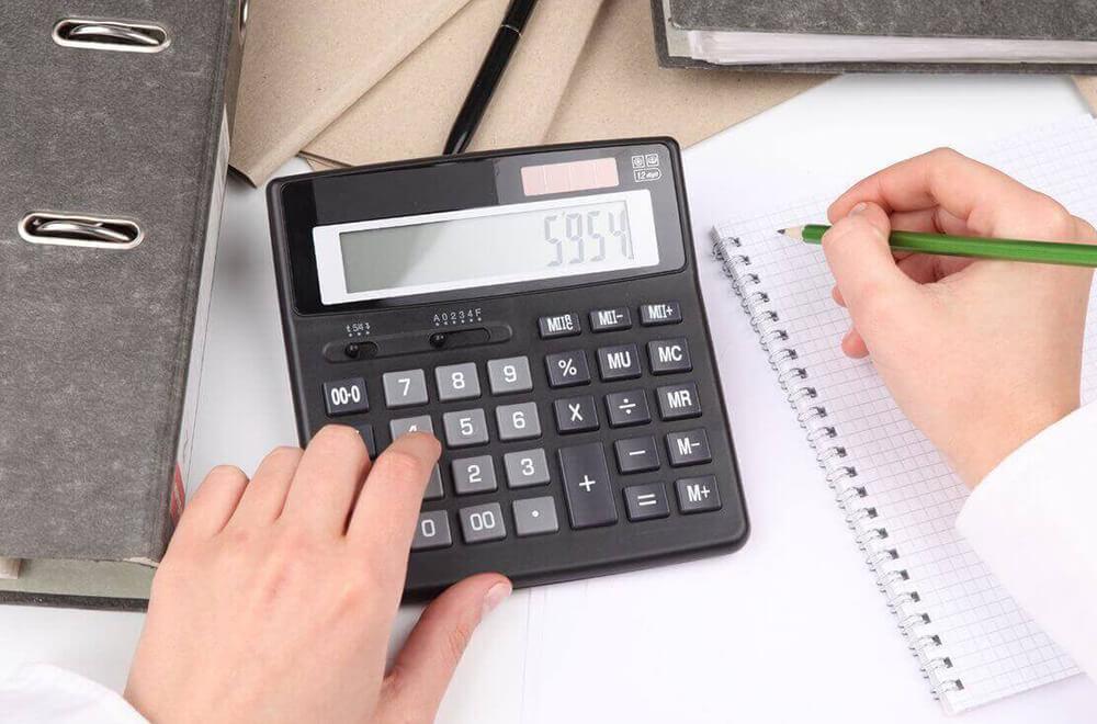 Калькулятор и карандаш— подсчет