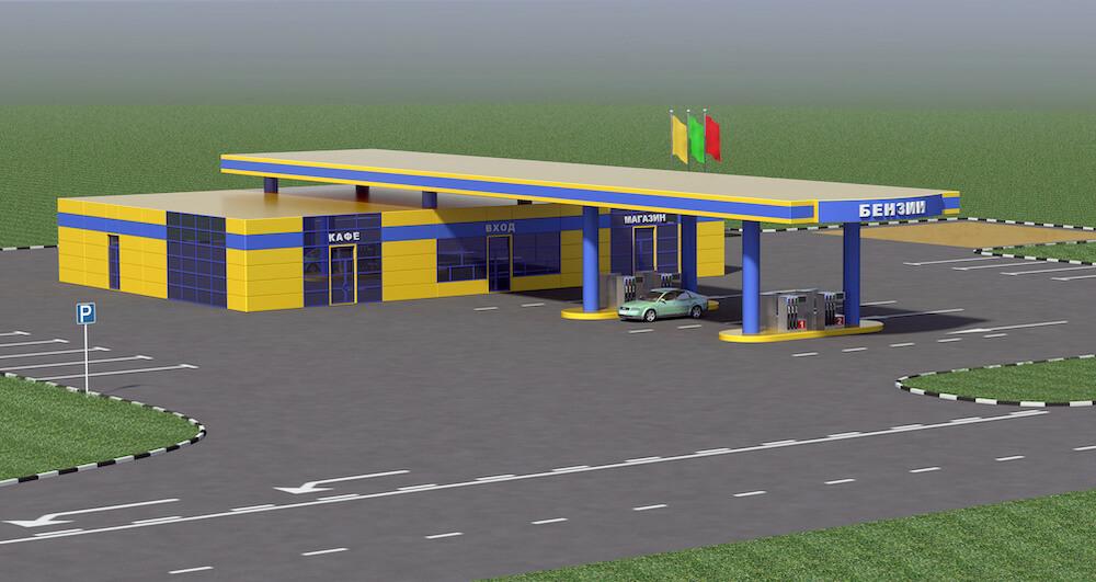 Поиск локации под строительство автозаправочной станции